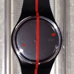 1991 SWATCH WATCH 360° Rosso Sur Blackout GZ119